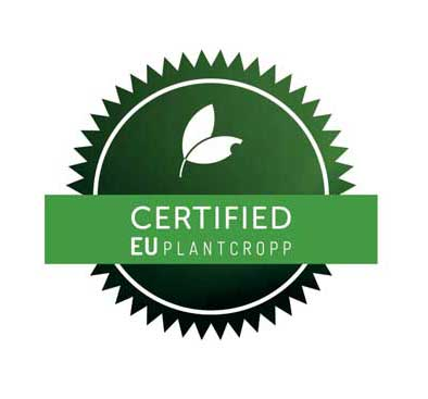 EUplantcropp certification stamp